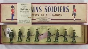 Britains Set #195 British Infantry At Trail.