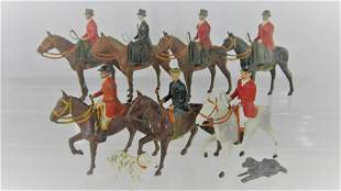 """Britains #234 """"The Meet"""" Mounted Hunters."""