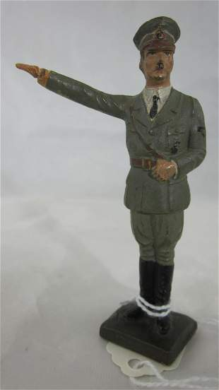 Lineol Adolf Hitler Saluting With Fixed Arm.