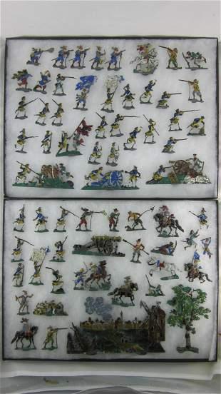 German Demi-Ronde Dutch Wars Display.