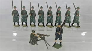Britains Set #1435 Italians In Steel Helmets.