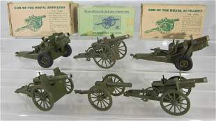 Britains Royal Artillery Guns And Howitzers.