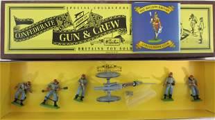 Britains Set #8876 Confederate Gun And Crew.