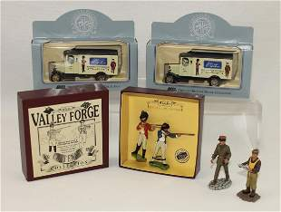 Britains Lot Valley Forge and Delivery Trucks