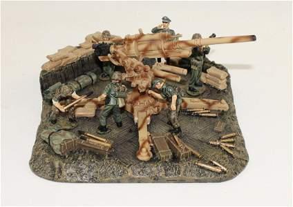King & Country Lot German 88mm Flak Gun and Crew