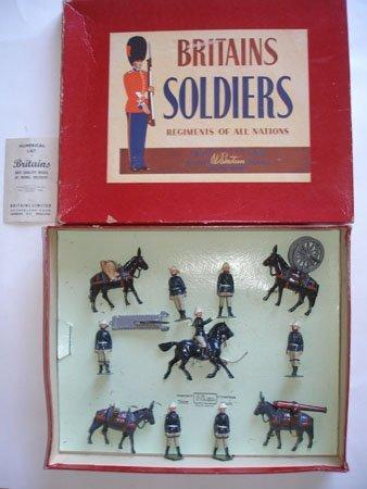 Britains Set # 28.Royal Artillery Mountain Gun Team