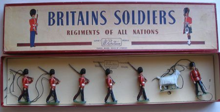 Britains Set # 74 Royal Welch Fusiliers with Mascot