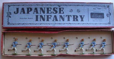 Britains Set # 134. Japanese Infantry Charging  - Box