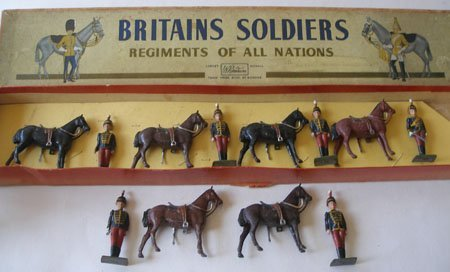 Britains From Set #182 11th Hussars Dismounted