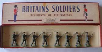 Britains Set  2032 Red Army Guards Steel Helmets in O