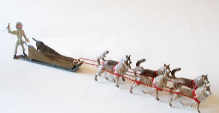 Hornung Arctic Sledge with Driver and Husky Dogs