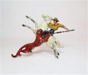 G.M. France RARE Cowboy Spearing Tiger