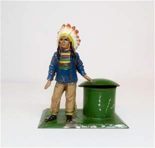 Heyde Large Scale American Indian Inkwell