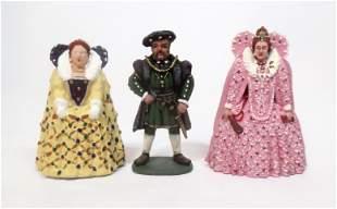 King Henry VIII, Queen Elizabeth & Mary Tudor