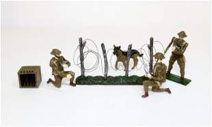 British WW1 Tommies & Barbed Wire Fence