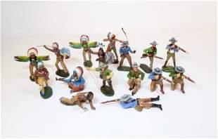 Elastolin Composition Cowboys & Indians