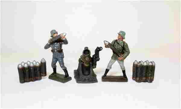 Lineol WWII German Artillery Group
