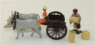 Marlborough Lot Basket Seller with Oxen and Cart