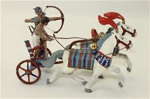 Rose Egyptian Two Horse Chariot