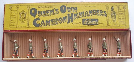 22: Britains Set #114 Queens Own Cameron Highlanders.