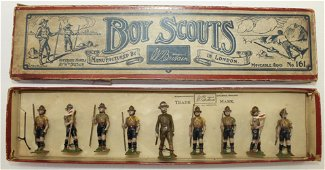 Britains Set 161 Boy Scouts with Scout Master