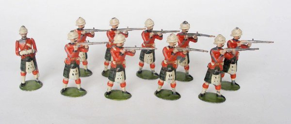 19: Britains Set # 122 Black Watch Standing Firing with