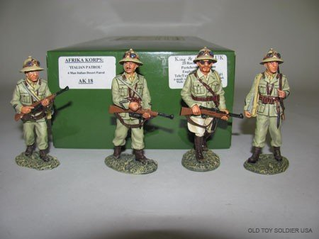 1004: King and Country Afrika Korps, Italian Patrol, .