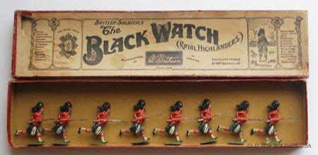 3: Britains Set # 11 Black Watch Charging.Box