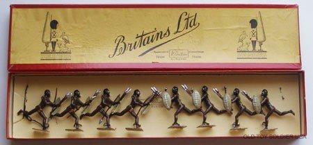 "24: Britains Set # 147 Zulus -  ""Cartoon"" Box"