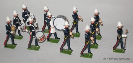297: Britains Set # 2115 Royal Marines Drums & Buglers,