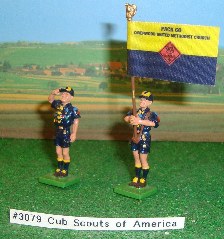 4: Britains Set # 3079 Cub Scouts Of America