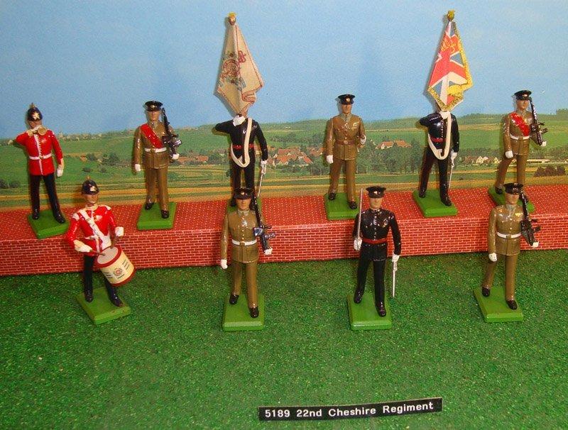 17: Britains Set # 5189 22nd Cheshire Regiment