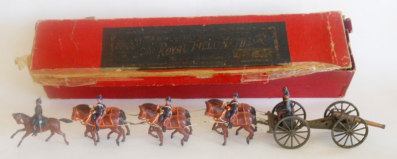 Britains RARE Set # 144 Royal Field Artillery Gun