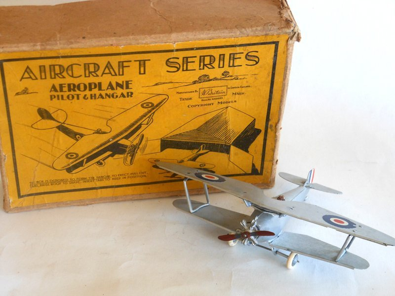 Britains Set # 1521 Royal Air Force Bi Plane and Pilot