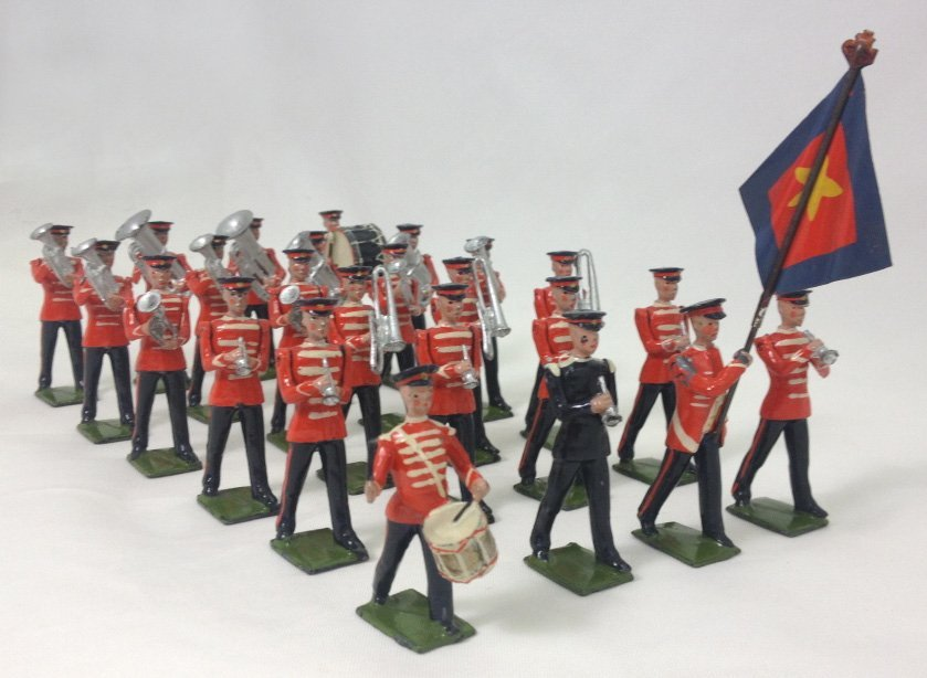 Britains Set #1317 Salvation Army Band with Red