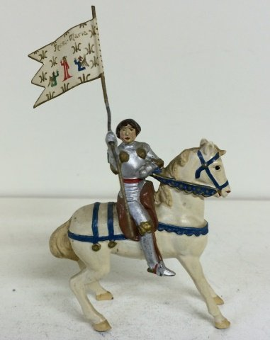 Courtenay- Extremely Rare  Mounted Joan of Arc