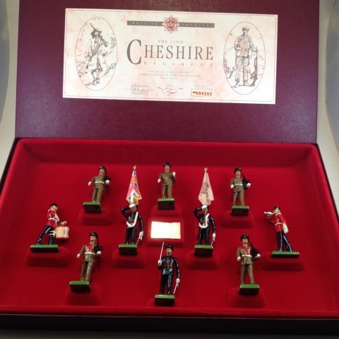 Britains 22nd.Chesire Regt.Set #5189