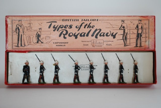 Britains Set #35 Royal Marines marching