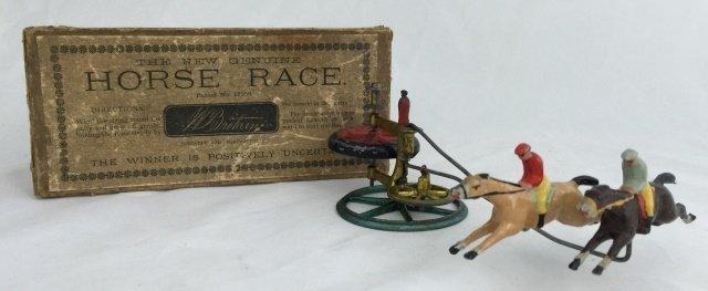 Exceedingly Rare Britains Double Horse Race