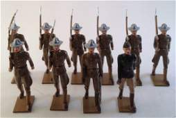 Hiriart WWI Army Marching With Officers