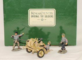 King And Country Wwii Ws33 20mm Flack Gun
