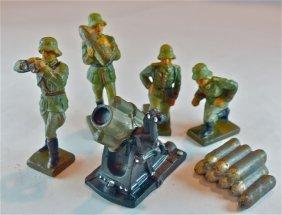 Lineol Complete 6 Piece German Mortar Team