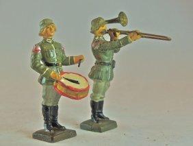 Scarce Lineol German Standing Drummer & Trombone
