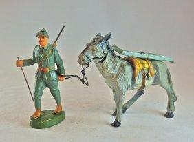 Chialu Italian Alpini Leading Mule W/gun Part