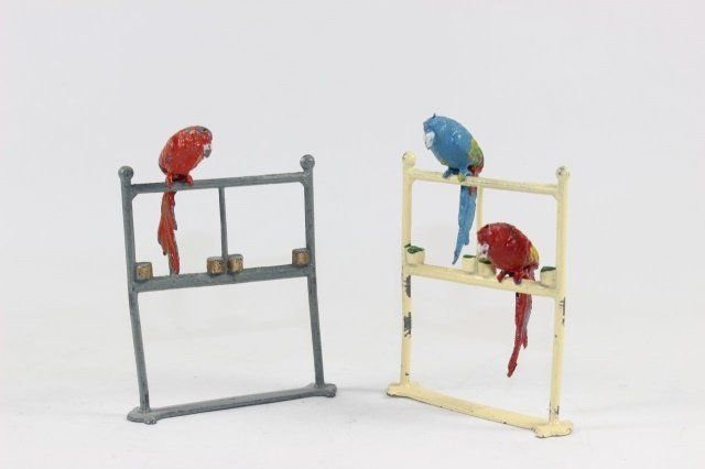 FG Taylor And Son Parrots On Perches