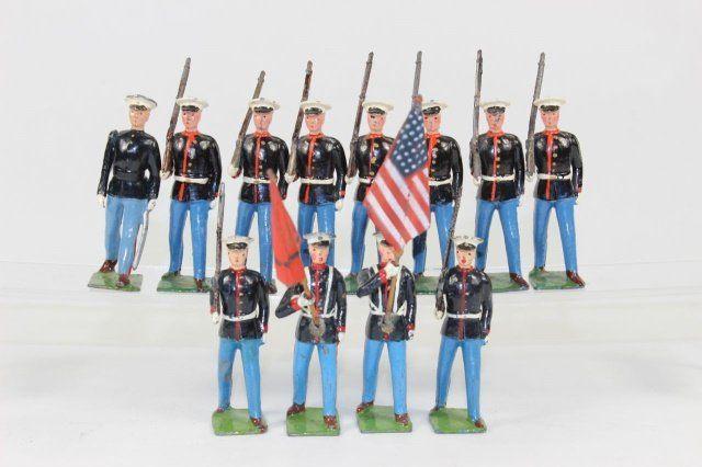 Britains #1201 US Marines Colour Party