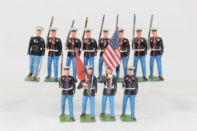 Britains #1201 US Marines Colour Party