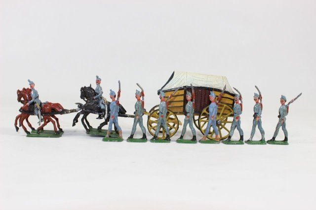 Wollner Supply Wagon And Infantry