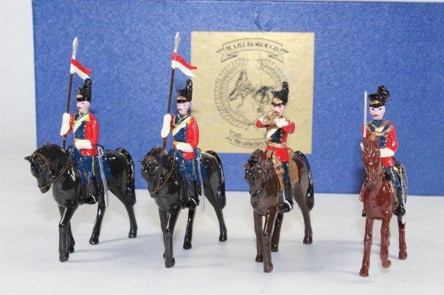 Marlborough 16th Lancers Officer And 2 Lancers