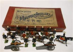 Britains from set #28 Mountain Artillery